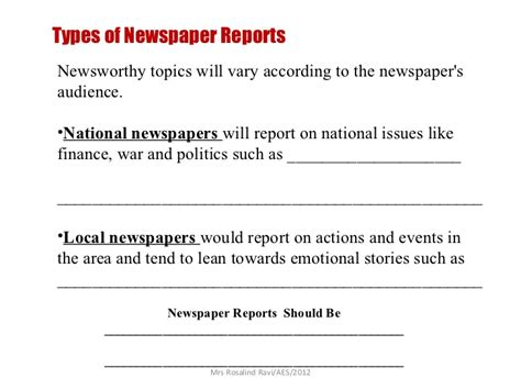 Newspaper Report Writing Cbse by Writing A Newspaper Report