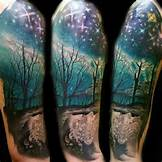 Aurora Borealis Tattoo