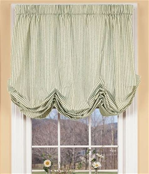 Balloon Curtains And Shades Ticking Stripes Balloon Curtain Bedding And Textiles Pinterest