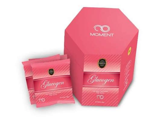 Moment Glucogen Asli Original 100 Box Isi 25 Sachet new glucogen jerawat glycogen