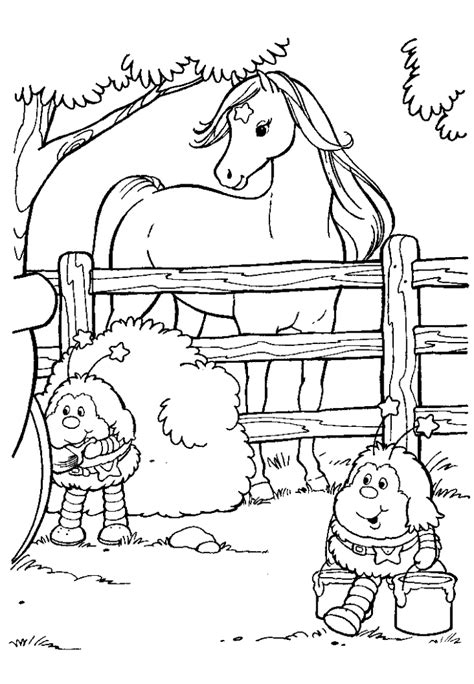 rainbow brite coloring pages free printable rainbow brite cartoons coloring home