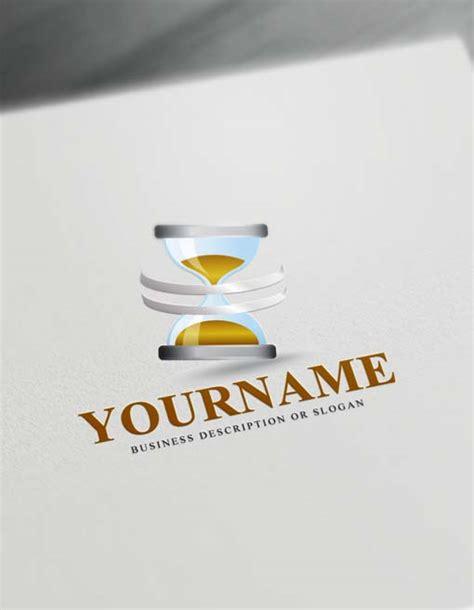 create  logo  time logo maker hourglass logos