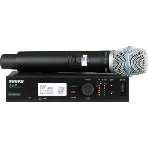 Mic Wireles Shure Gldx 24 Digital shure ulx d digital wireless handheld microphone ulxd24 b87a l50