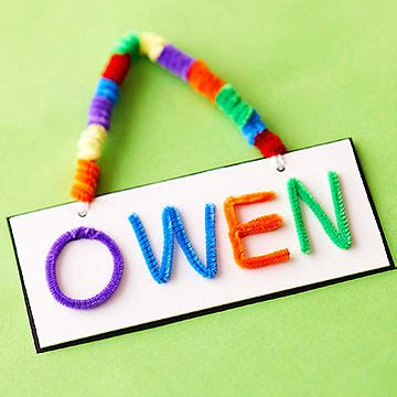 name crafts for chenille stem craft ideas for