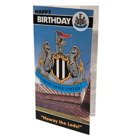 Newcastle Birthday Card Newcastle United F C Birthday Card And Badge For Only 163 3