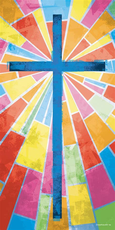 Wedding Banner Patterns For Church by Church Banner Stained Glass Cross Cross With Stained Glass