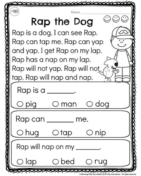 printable games for kindergarten reading kindergarten reading comprehension passages kindergarten