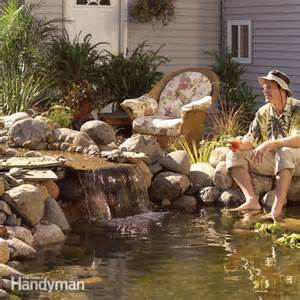 building a small backyard pond pond how to build a low maintenance pond the family