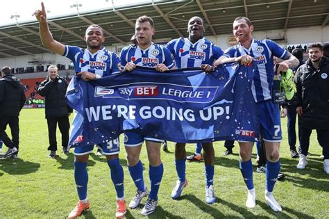 wigan athletic fc  promoted   championship