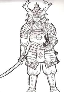 japanese samurai drawings samurai armor test 1 by