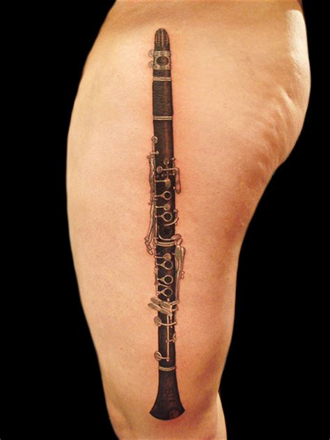 clarinet tattoo cool lookink clarinet tattoomagz
