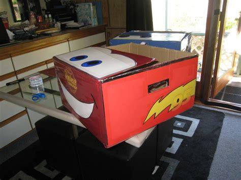 spray paint cardboard side lightning mcqueen cardboard box spray paint draw