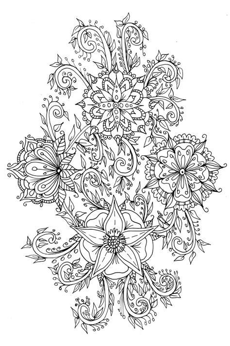 mini doodle colouring books scanimage096floral doodle by welshpixie on deviantart