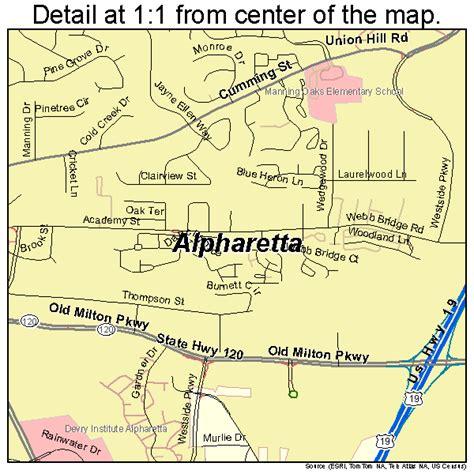 map of alpharetta alpharetta map 1301696
