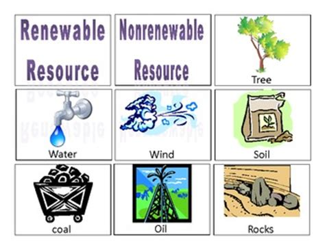 Renewable And Nonrenewable Resources Worksheet by Resource Card Sort By Rudolphy Tpt