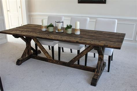 how to build a farmhouse table and bench artistic and unique diy farmhouse table ideas
