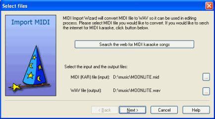 file format kar karaoke video creator import midi karaoke