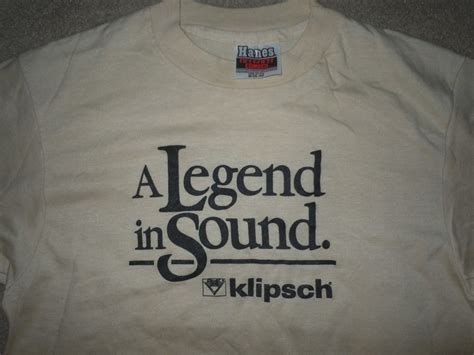Tshirt Klipsch klipsch t shirt garage sale the klipsch audio community