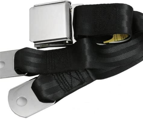 replacement seat belt with chrome aviation style lift