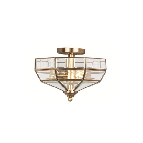 elstead park s f antique brass ceiling light semi