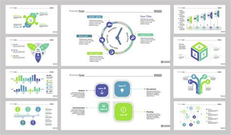 ui pattern slideshow business presentation slide design set vector free download