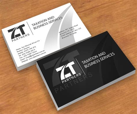 accounting business card templates australian accounting firm needs a business card design