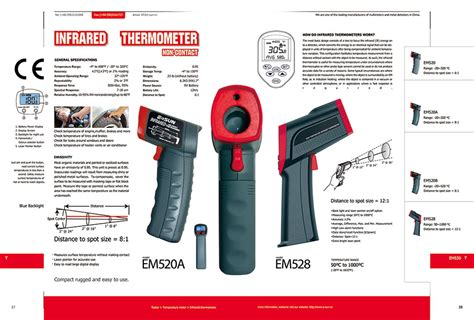 Thermometer Infrared Aditeg At 520 infrared thermometers temperature sensors measurement by