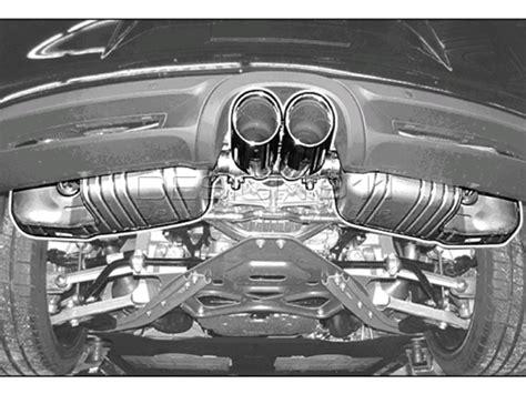 porsche cayman s sports exhaust porsche 981 cayman sports exhaust system 98104420000
