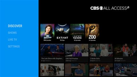 cbs app for android cbs releases an android tv app for all access subscribers
