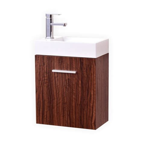 Modern Walnut Bathroom Vanity Bliss 18 Quot Walnut Wall Mount Modern Bathroom Vanity