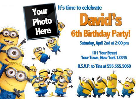 minions birthday invitation card template unavailable listing on etsy