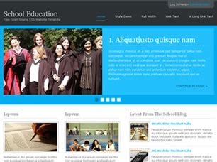 free css templates for educational websites free school website templates 28 free css