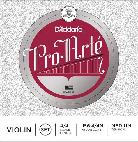 Pro Arte Violin Strings - d addario orchestral pro arte violin medium tension