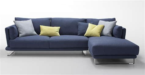 Blue Sectional Sofas by Modern Blue Fabric Sectional Sofa Lucas Fabric