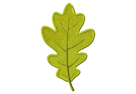 leaf applique autumn oak leaf both applique and stitched blasto stitch