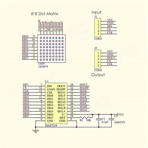 Max7219 Dot Matrix Module 4 In 1 Display For Arduino Sale Banggood Com Alarm Input Output Matrix Template