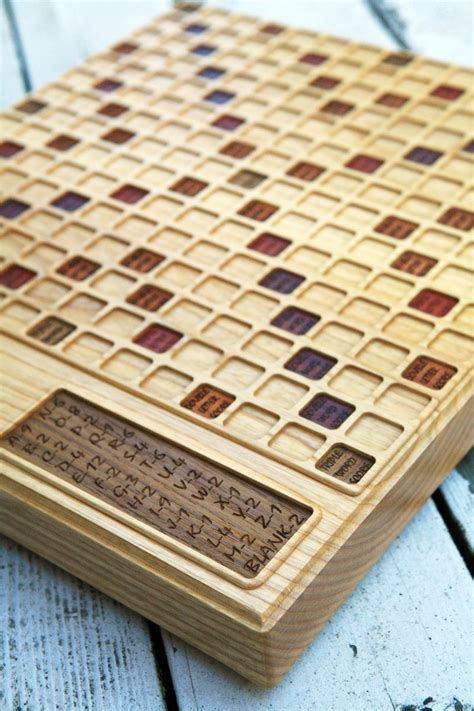 personalized scrabble board handmade scrabble board ash by bit beam custommade