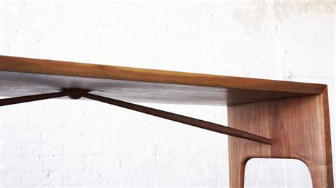 angled bench c09 solid walnut bench with angled spindles by jason lewis