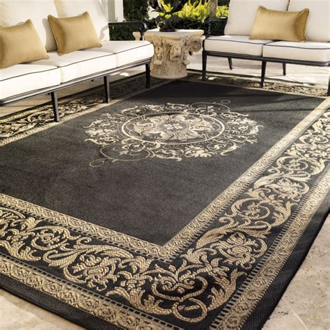 Frontgate Outdoor Rugs Medallion Outdoor Rug Traditional Outdoor Rugs By Frontgate