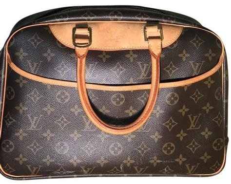 louis vuitton deauville monogram handbag brown canvas