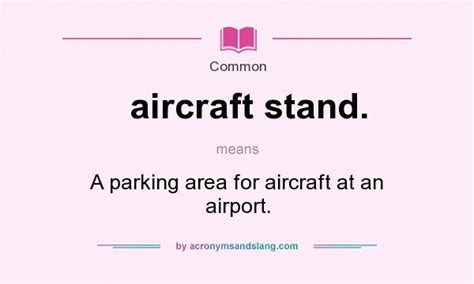 what does aircraft stand mean definition of aircraft