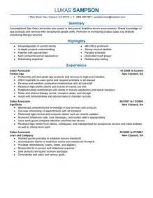 Exle Resume For Sales Associate by Unforgettable Sales Associate Resume Exles To Stand Out Myperfectresume
