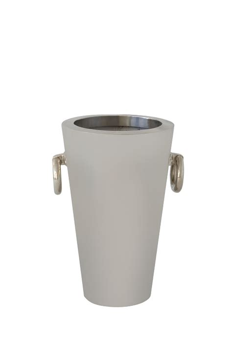 Silver Planters by Silver Planter Fresh Event Hire