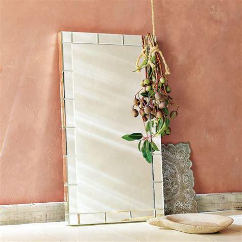 mirror framed wall mirror west elm bathroom