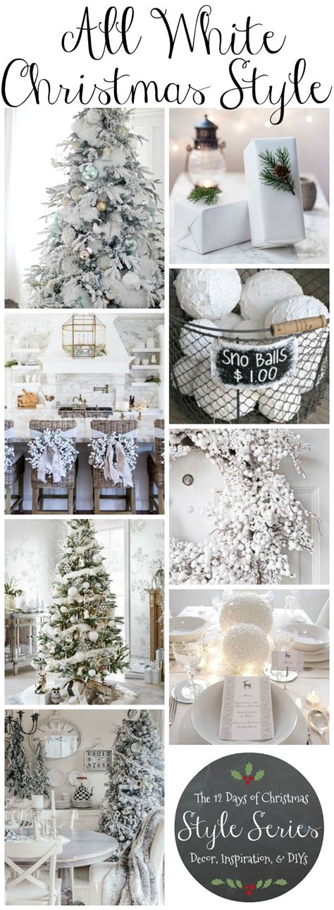 christmas decoration inspiration diy xmas gift ideas shopping cool presents tree winter holiday all white christmas style series the happy housie