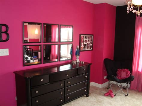 hot pink and black bedroom pink and black tween bedroom contemporary chicago by