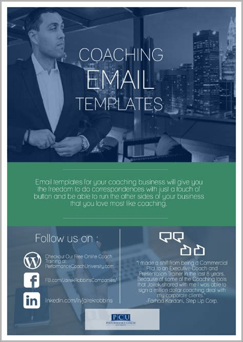 Save Time Money With These Email Templates For Coaches Become A Certified Performance Coach Coaching Email Template