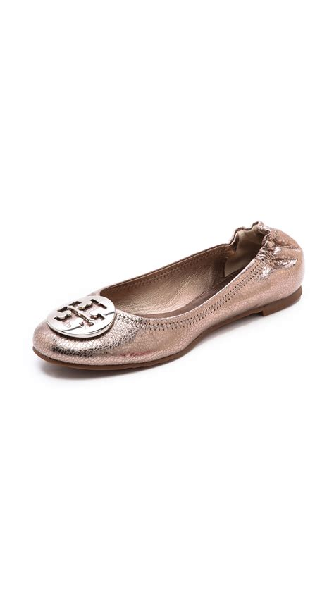 Trend Report Burch Reva Flats Are Going To Be This Second City Style Fashion by Burch Reva Metallic Flats In Pink Metal Pewter