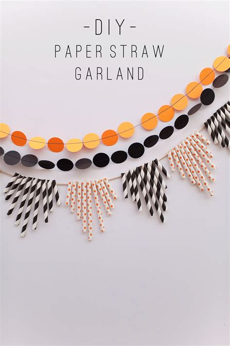 Paper Straw Crafts - tell paper straw garland tell and