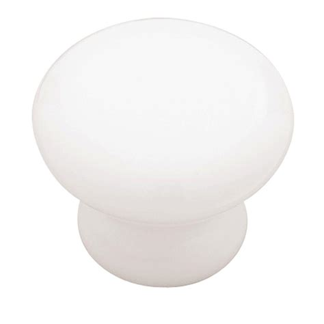 liberty 1 1 4 in white ceramic cabinet knob p95702c